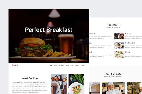 Food Restaurant HTML Template