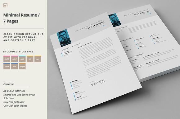 indesign portfolio resume template  u00bb designtube