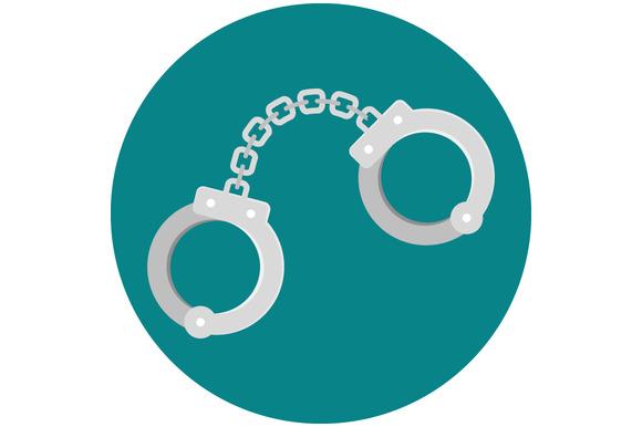 stock graphic handcuffs flat icon 187 logotirecom