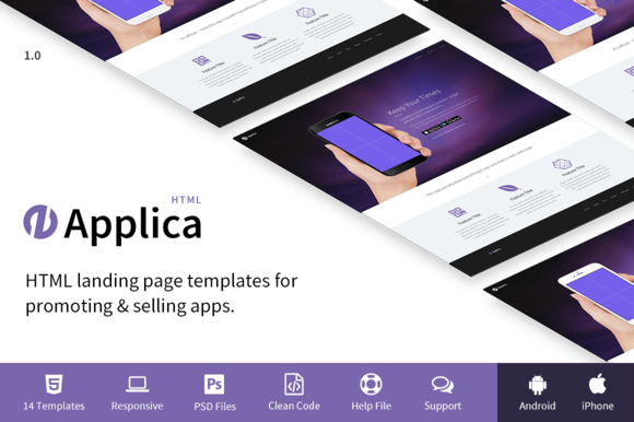 Applica Responsive Landing Pages