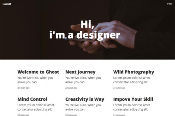 Journal Blog Ghost Theme