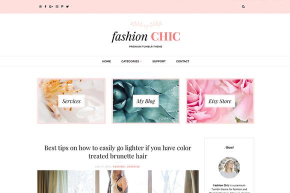 Fashion Chic Tumblr Theme