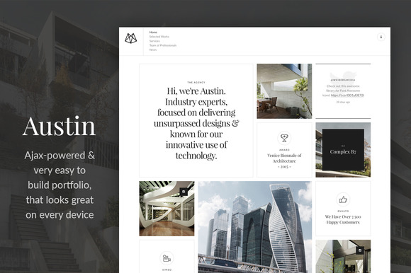 Austin AJAX Powered Portfolio