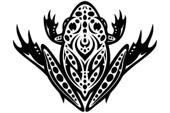 Tribal Leopard Frog Tattoo
