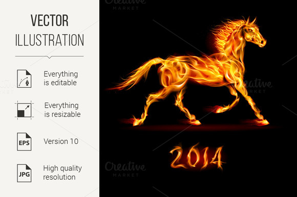 New Year 2014 Fire Horse