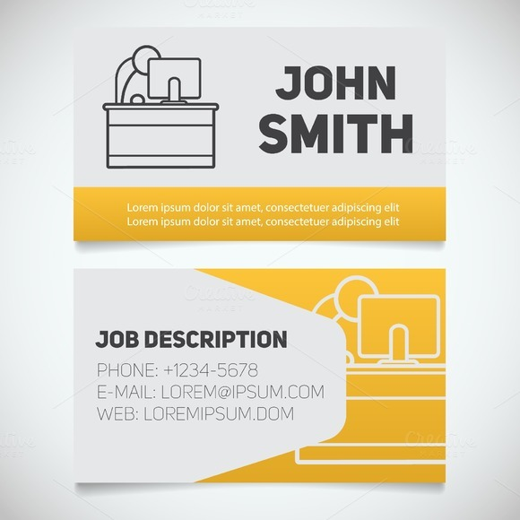 The Office Business Card Template