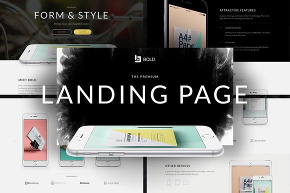 Bold Premium App Landing Page
