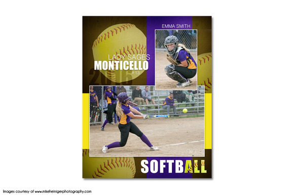 Template softball memory mate template mm6 for Softball brochure templates