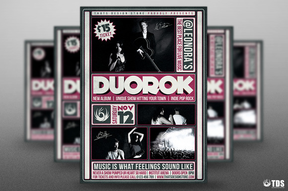 Indie Band Flyer Template V2