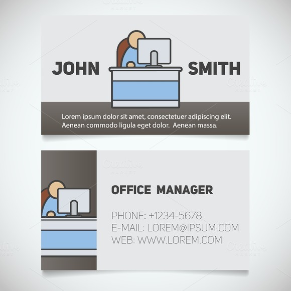 stock graphic business card print template vector