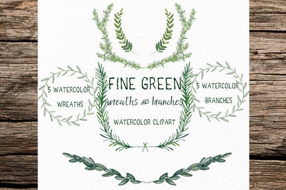 Fine Green Rosemary Watercolor
