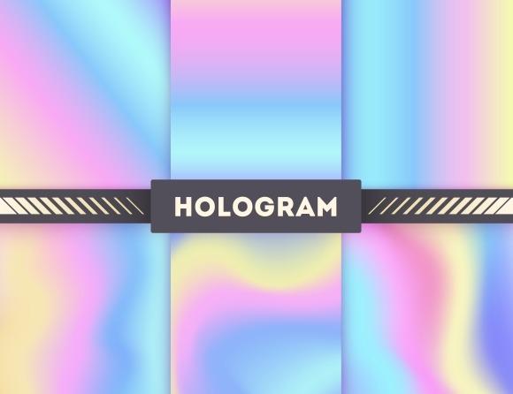 Hologram Vector Backgrounds