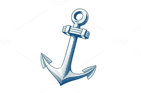 Ship Anchor Tattoo