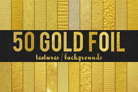 50 Gold Foil Textures Backgrounds