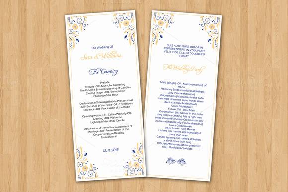 Indesign funeral program indesign template designtube creative design content for Indesign wedding program template