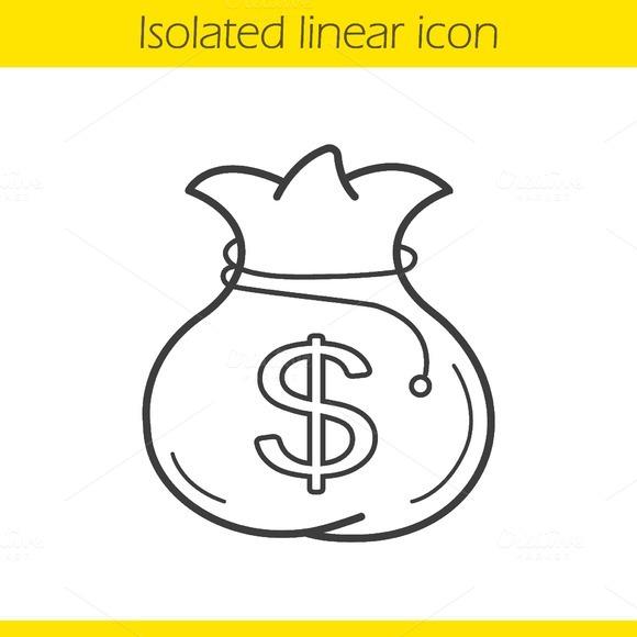 Line Drawing Money : Pictogram star and money designtube creative design