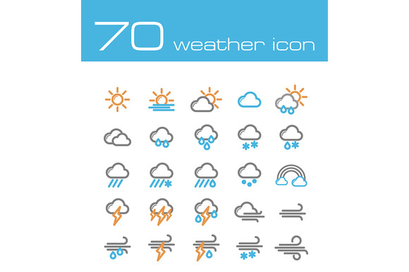 70 Weather Icons