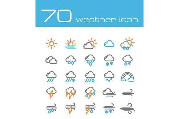 70 Weather Icons