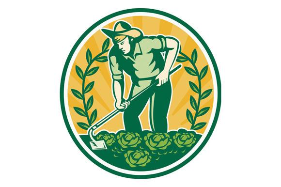 Farmer Gardener With Garden Hoe