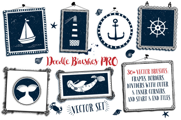 Doodle Brushes Vector Pack