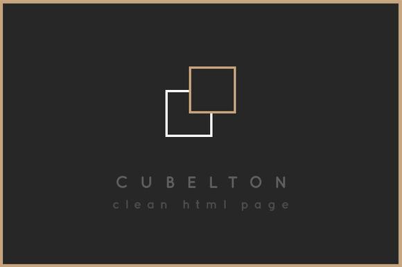 Cubelton Modern HTML Theme