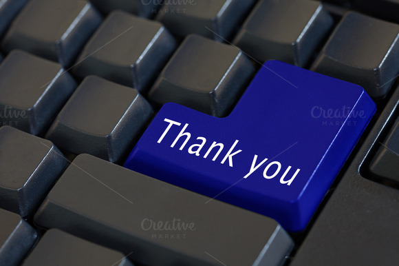 'Thank You On Enter Keyboard