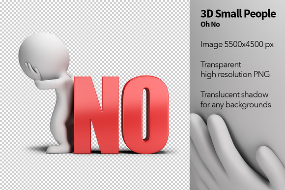 3D Small People Oh No