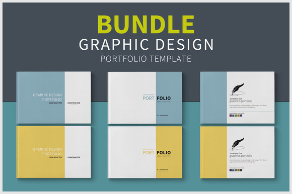 template graphic design portfolio bundle. Black Bedroom Furniture Sets. Home Design Ideas