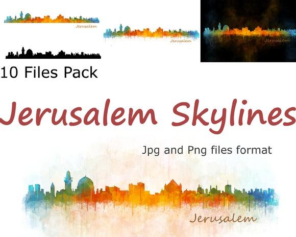 10x Files Pack Jerusalem Skylines