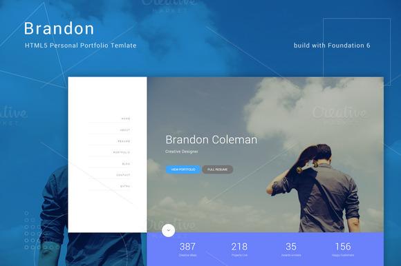 Brandon HTML5 Personal Template