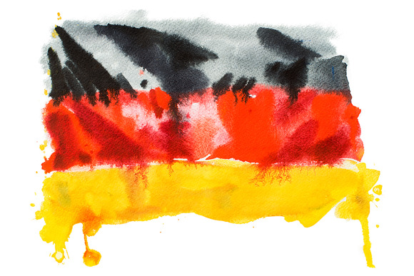 Flag Of Germany Watercolour
