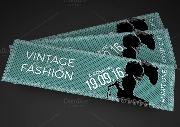 Talent show ticket templates designtube creative for Fashion show ticket template