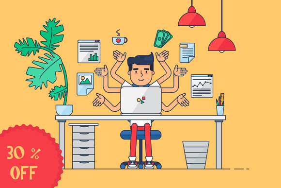 Workspace Of Professional Working