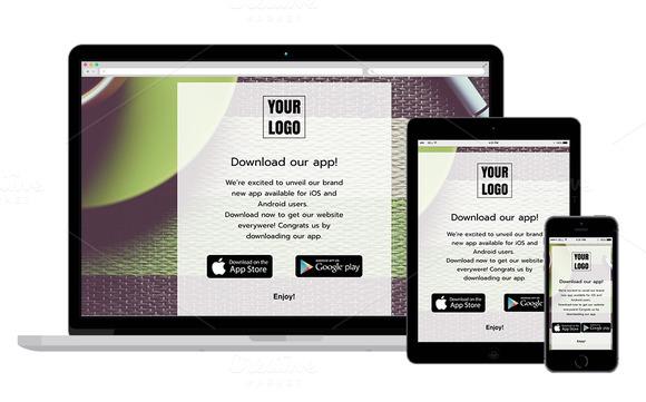 template launch app eblast mailchimp designtube creative design content. Black Bedroom Furniture Sets. Home Design Ideas