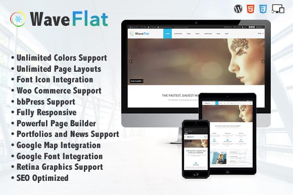 Wave Flat Mutipurpose Theme