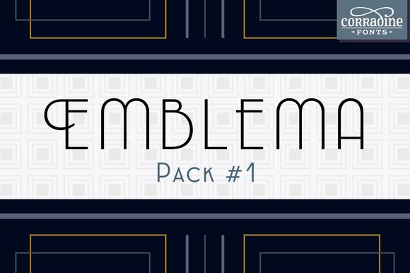 Emblema Font Pack #1