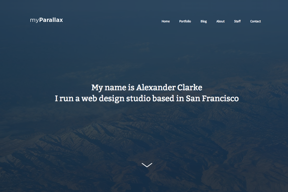 MyParallax WordPress Theme