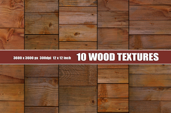 Dark Wood Texture Background Set