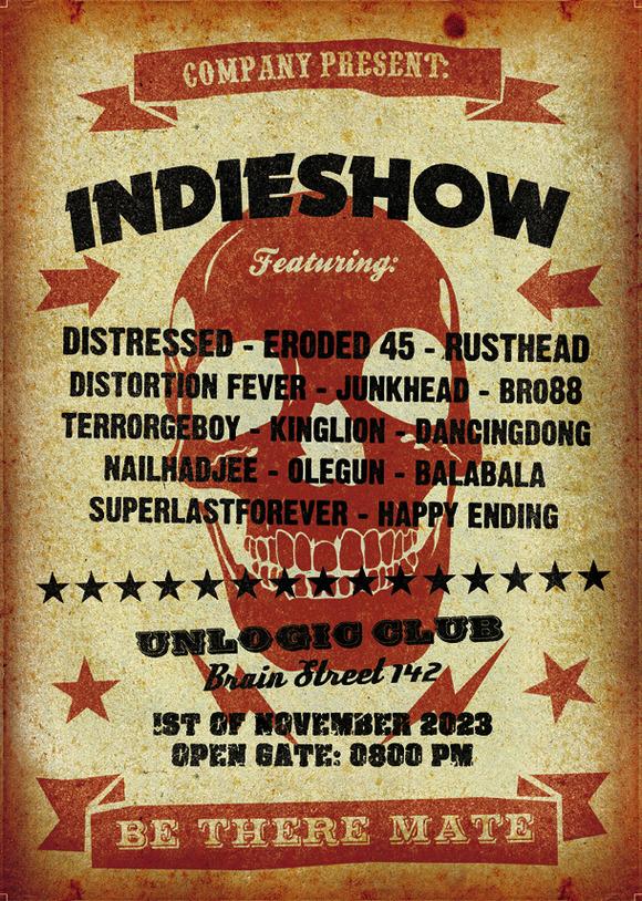 Vintage Skull Music Poster Template