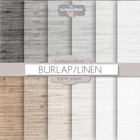 Burlap Linen Grey Beige Digitalpaper