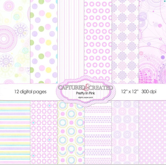 Pretty In Pink Digital Paper 12