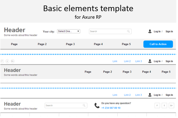 Axure Template Basic Elements V1.5
