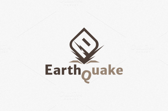 EarthQuake Logo Template