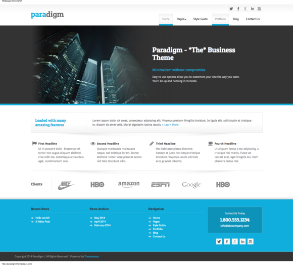 Paradigm Responsive Business Theme