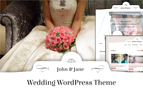 John Jane Wedding WordPress Theme