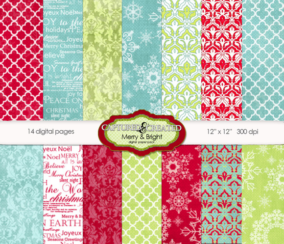 Merry Bright Christmas Papers 14