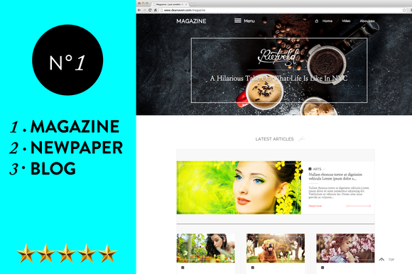 Magazine Blog Newspaper WP Theme