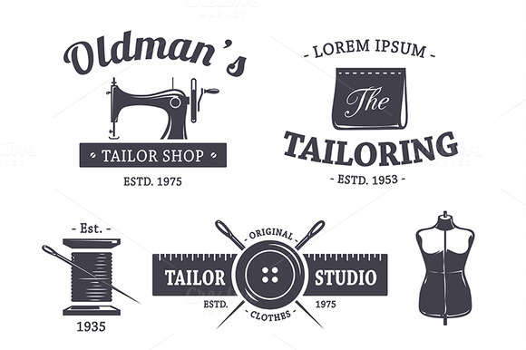Vintage Tailor Emblems