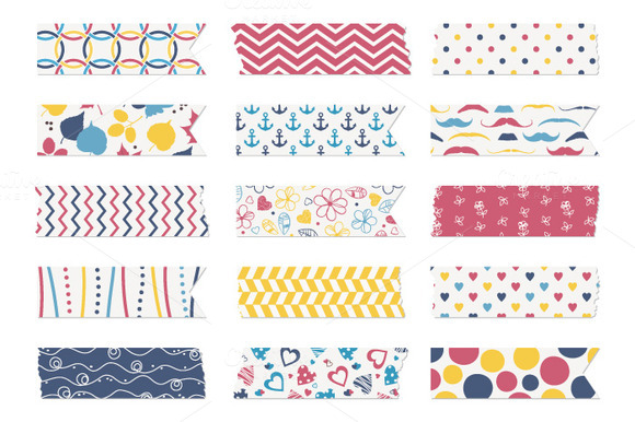 15 Washi Tape Strips