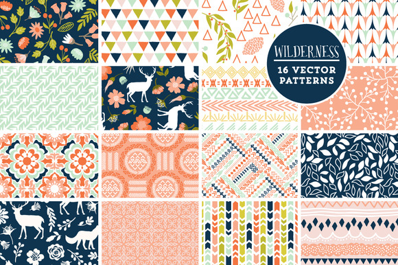 16 Wilderness Vector Patterns
